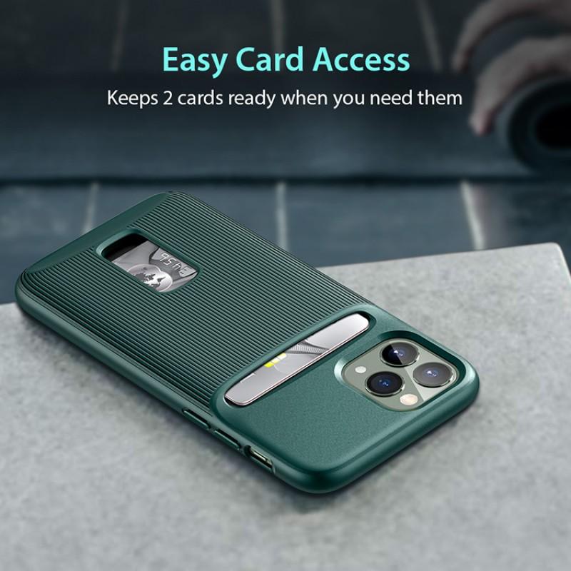 iPhone 11 Pro Max | ESR Wallet Armor Series-hoesje (groen)