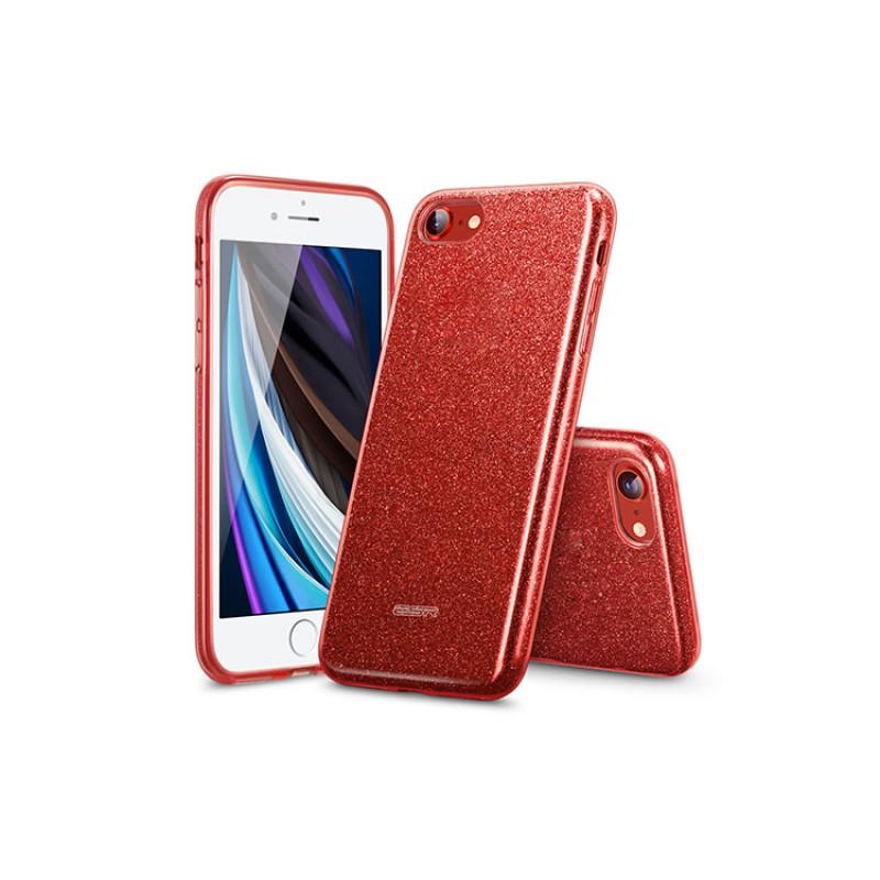 iPhone SE 2 | ESR Glitter Series-hoesje (rood)