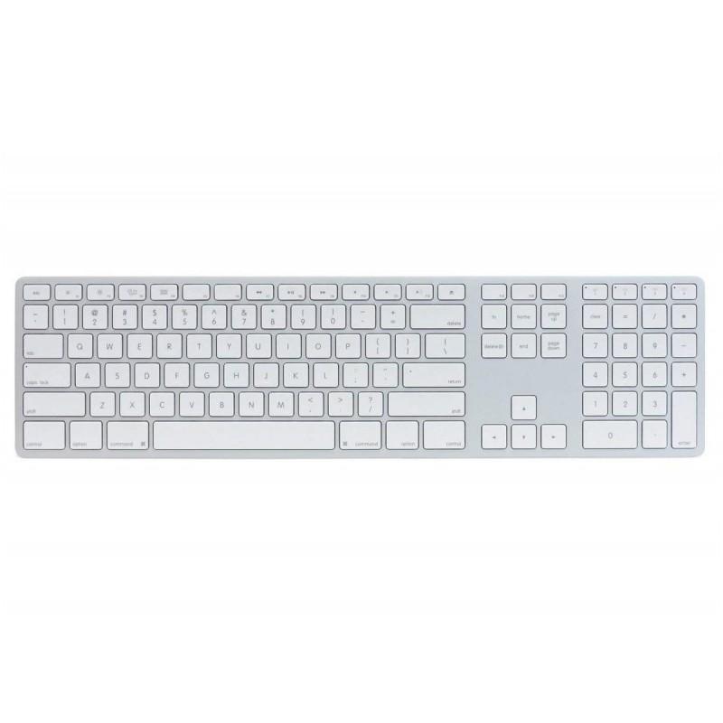 Matias Wireless Keyboard met numeriek toetsenblok - Amerikaans (zilver)