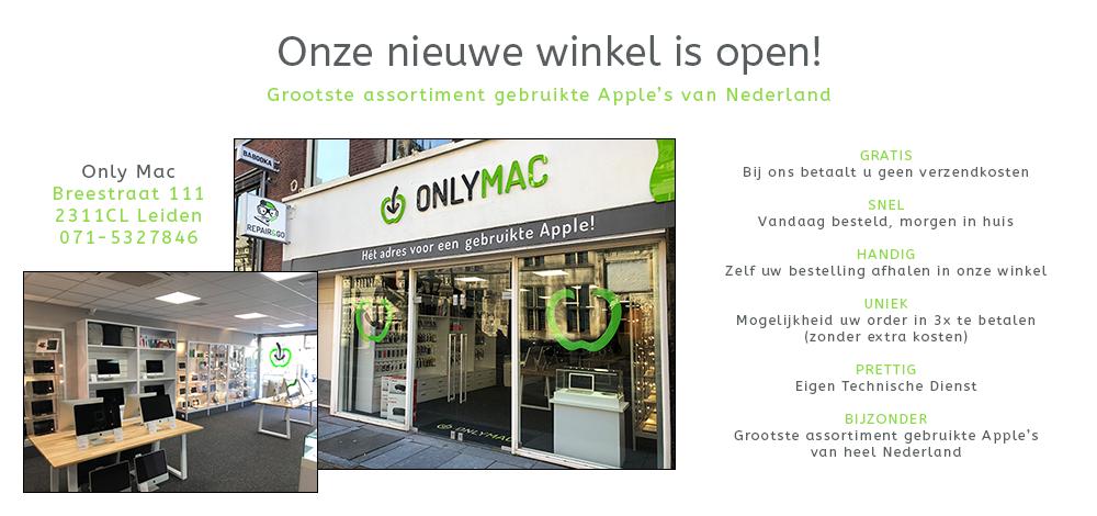 Onze nieuwe winkel